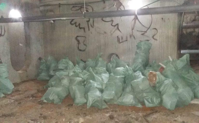 Освещение и уборка мусора в подвале